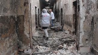 Hospital de Metges sense Fronteres a Kunduz després del bombardeig