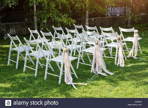 Beautiful wedding set up. Wedding ceremony in the garden