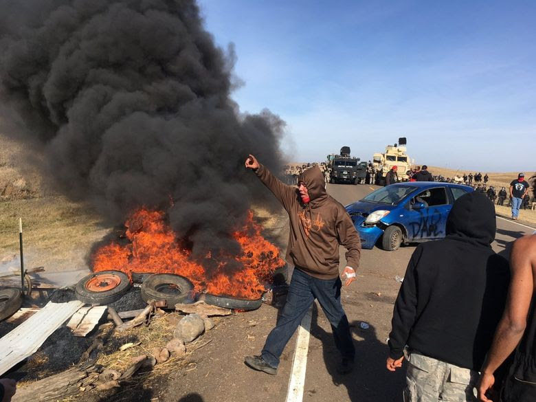 Image result for 141 arrests as police clear N.D. pipeline protest