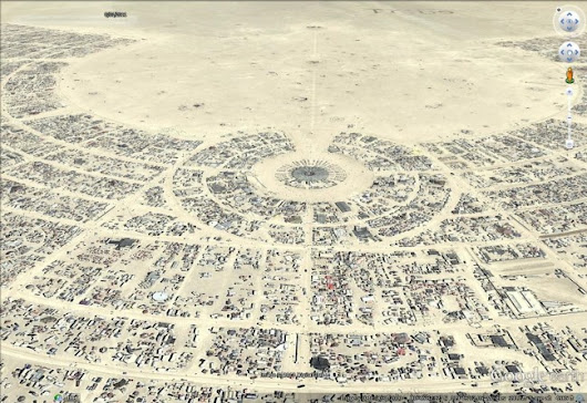 Burning Man 2013 - Google Earth Blog