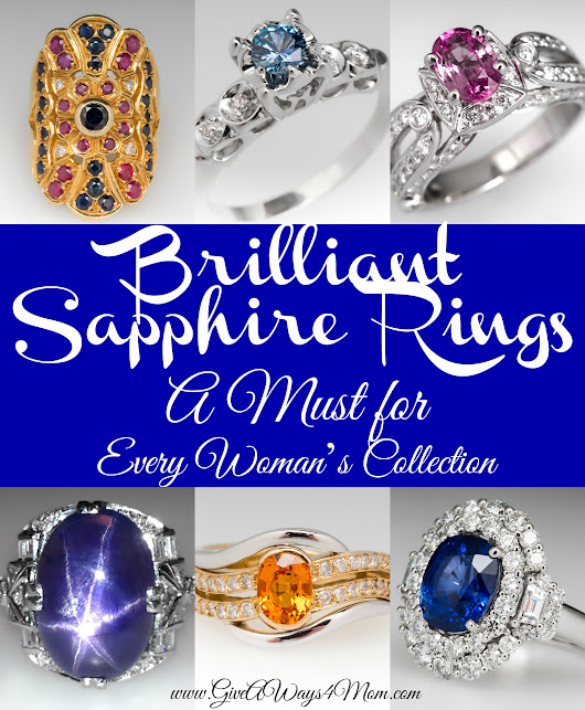 Brilliant Sapphire Rings – A Must for Every Woman's Collection + Instagram Giveaway | Giveaways 4 Mom
