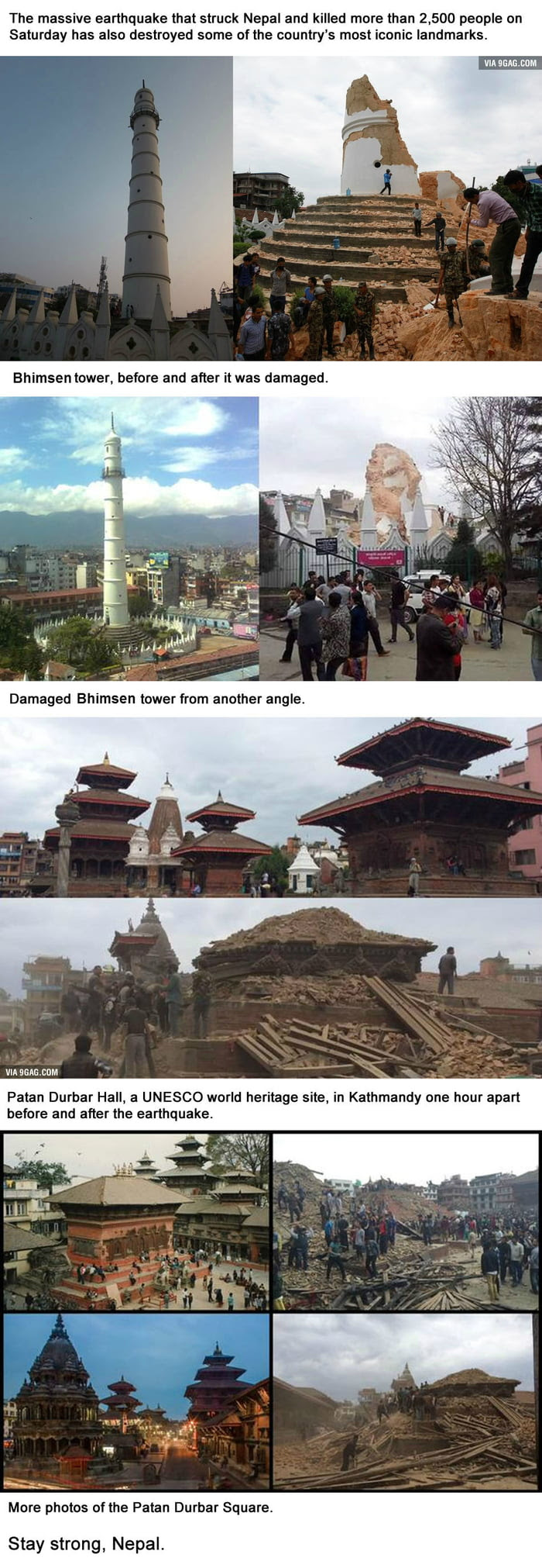 Before And After Photos Of Nepal's Landmarks That Reveal The Impact Of The Massive Earthquake