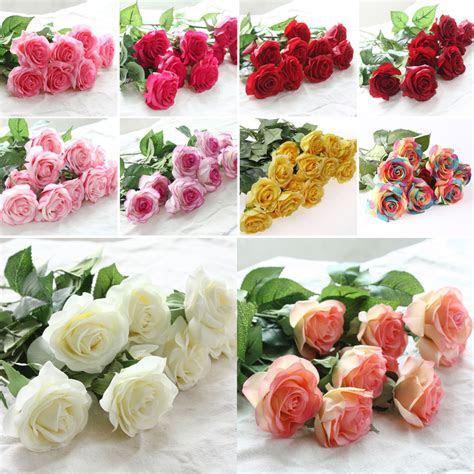 Zonaflor 10pcs/lot Artificial Flowers Rose 2017 New
