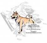Norwegian Buhund Dog Intarsia or Yard Art Woodworking Pattern - fee plans from WoodworkersWorkshop® Online Store - Northern Inuit Dogs,pets,intarsia,yard art,painting wood crafts,scrollsawing patterns,drawings,plywood,plywoodworking plans,woodworkers projects,workshop blueprints