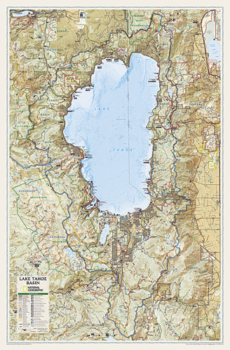 Time Zones Map South Lake Tahoe Elevation Map