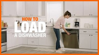 A video staging how to fill a dishwasher intended maximum cleaning.