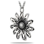 Women's Stainless Steel 11 Petal Small Flower Necklace- Proverbs 4:23