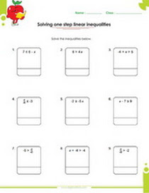 Solving One Two And Multi Step Inequalities Worksheets