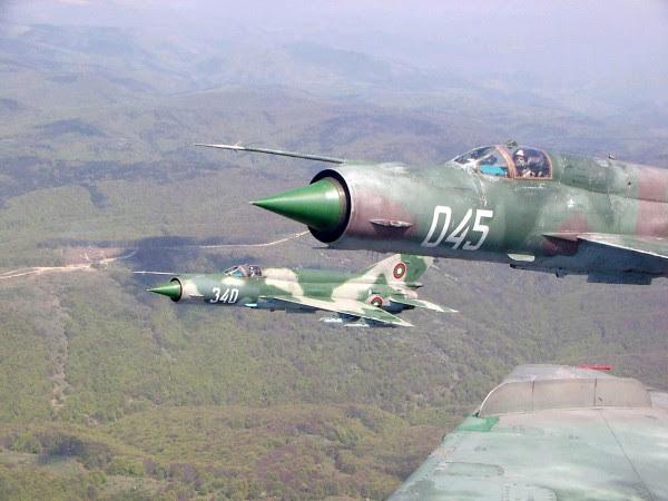 MiG-21PFM. La Fuerza Aérea de Bulgaria es una de las fuerzas aéreas más antiguas de Europa y de todo el mundo.