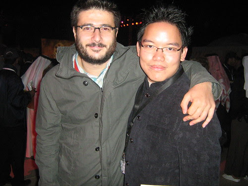 """With Cem Oztüfekçi (""""Downstairs""""), Dubai Film Fest 2008 Closing Ceremony"""