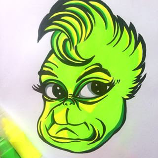 Grinch Drawing at GetDrawings | Free download