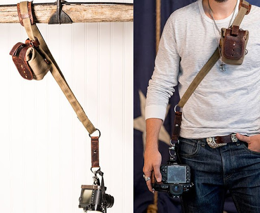 Sightseer Sling Strap is a Leather Camera Strap That Expands As Needed
