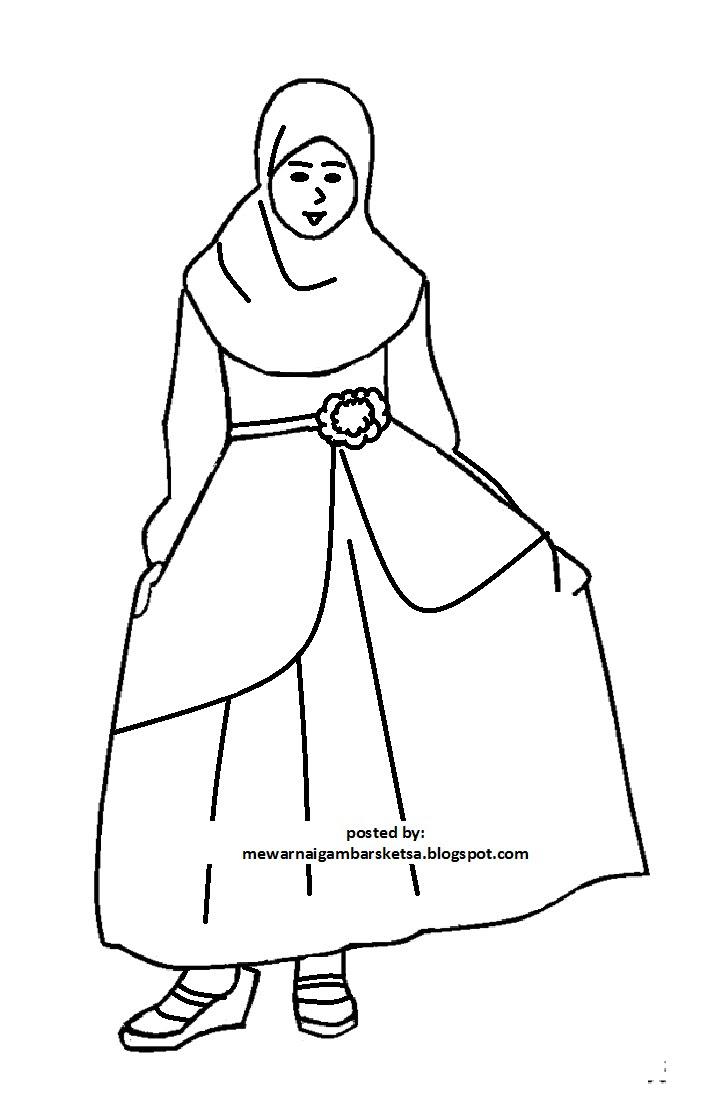 Mewarnai Gambar Mewarnai Gambar Sketsa Kartun Anak Muslim 29 Auto