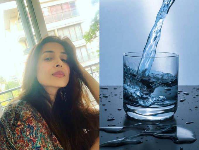 Malaika Arora shares the correct way to drink water india ...