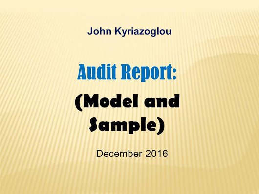 Audit Report:  Model and   Sample