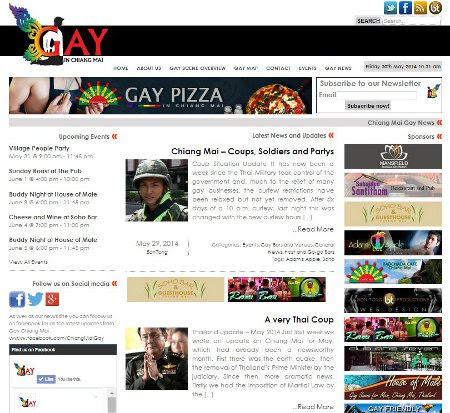 Bon Tong Productions new website design for Gay in Chiang Mai