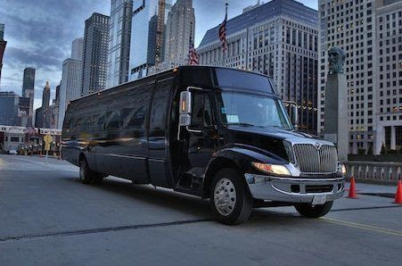 Chicago Party Bus Rental With a Bathroom | Limo Bus Service