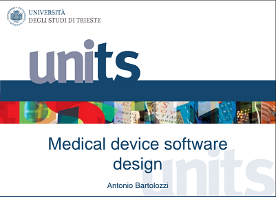 Medical Device Software Design class at the University of Trieste Italy is using C++Builder 10 Seattle