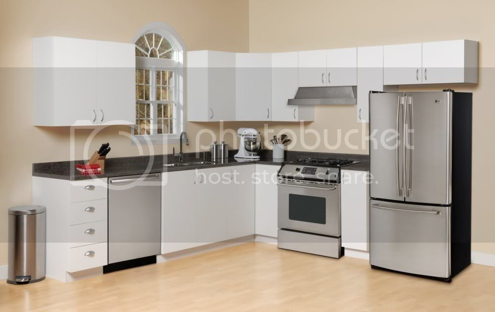 Home Trends Kitchen Cabinet Set In White