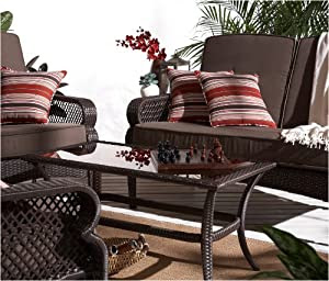 Amazon.com: Strathwood Buckley 4-Piece Outdoor Furniture Set ...