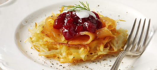 POTATO ROSTI WITH BEETROOT AND SMOKED SALMON - Aimee Victoria Long