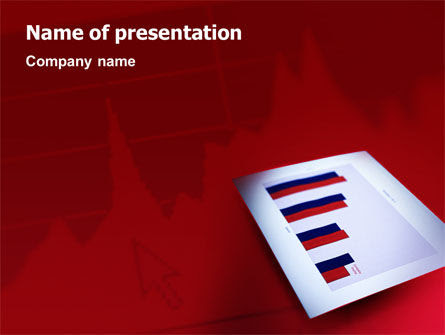 Red Histogram Business Card Template