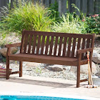 Coral Coast Amherst Straight Back Outdoor Wood Garden Bench