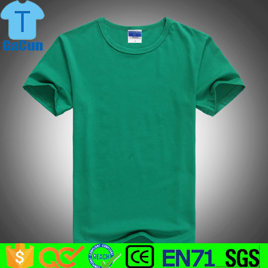 OEM Shirt 100% cotton Clothing Men's Plain Round Neck T-Shirt