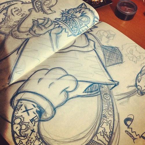 felino forajido instagram sketch