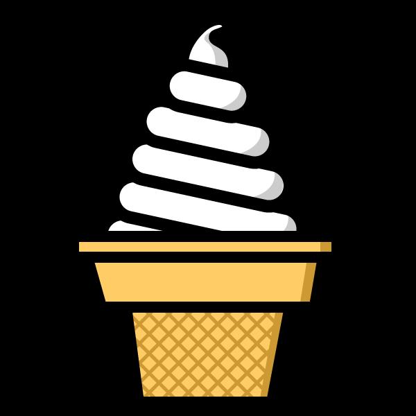 かわいいソフトクリームの無料イラスト商用フリー オイデ43