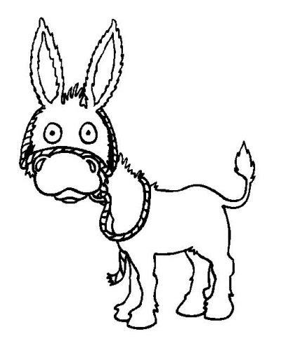 Dibujo De Burro Dibujo Para Colorear De Burro Dibujos Infantiles