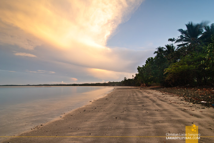 Sunset at Jawili Beach in Tangalan, Aklan