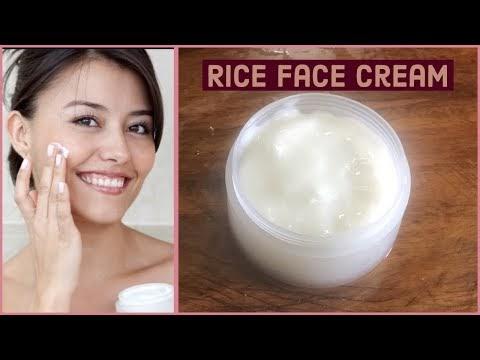 DIY Rice Cream || Skin Whitening & Anti Aging Rice Cream