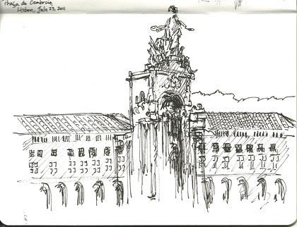Praca do Comercio, Lisbon, Portugal