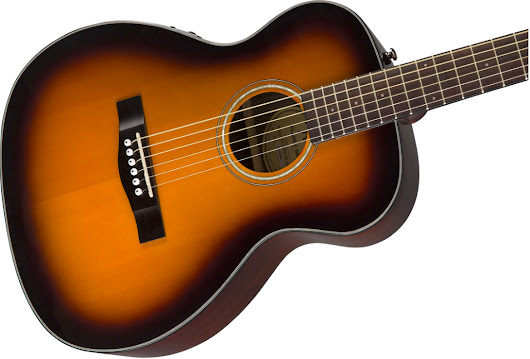 Fender CT-140SE Sunburst Solid Top Acoustic-Electric Travel Guitar With Hardshell Case