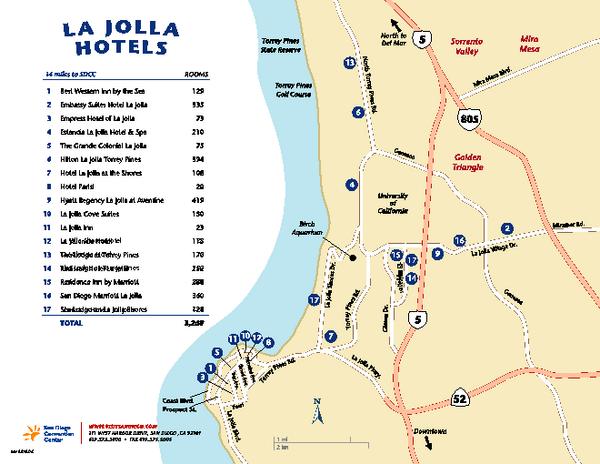 La Jolla Tourist Map La Jolla Ca  E2 80 A2 Mappery