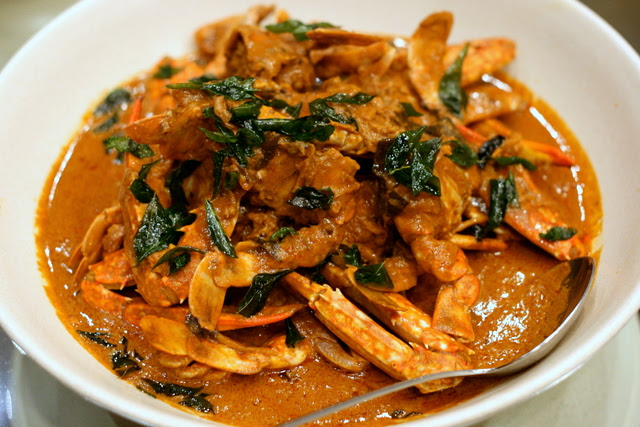Nonya curry crab that's more Indian than Nonya