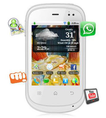 Micromax Superfone Punk A44 Android Touch Screen SmartPhone 2MP wi-fi Images/Pictures