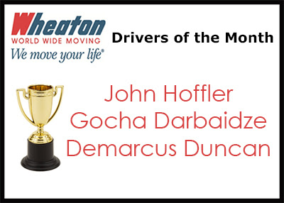 Wheaton World Wide Moving Drivers of the Month Selected for March - Wheaton
