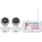 "VTech - Video Baby Monitor with (2) Cameras and 4.3"" Screen - White"