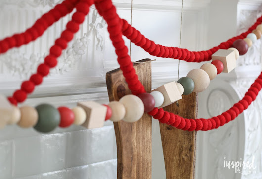 DIY Oversized Wood Bead Garland