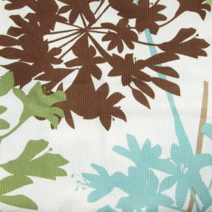 Free Spirit Floral Garden Vines Aqua Brown Green Polyester Fabric ...
