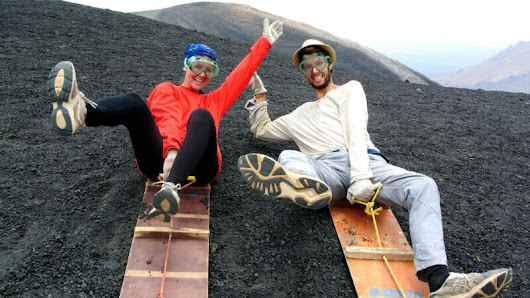 volcanic boarding at Cerro Negro