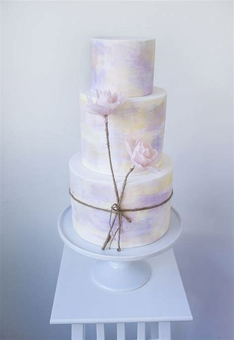25  best ideas about Watercolor Wedding Cake on Pinterest