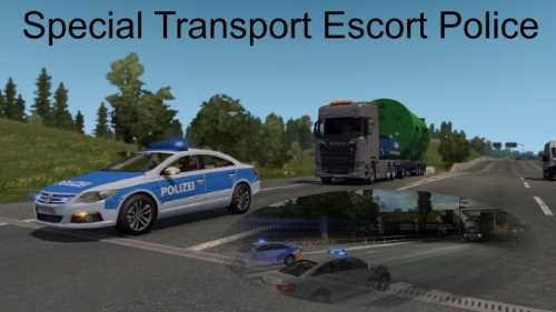 Special Transport Escort Police 1.33 | ETS2 Mods