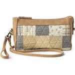 American Heritage Textiles 19419 Olivia Wristlet Handbag Biscotti - 8 x 5.5 x 2 in.