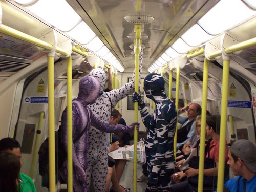 Northern Line Commuters by Colin