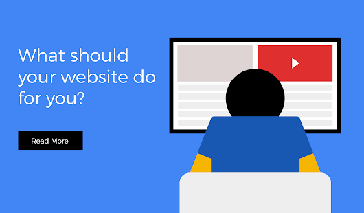 What should your website do for you?