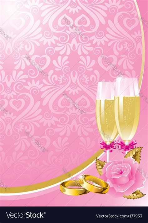 Wedding background Royalty Free Vector Image   VectorStock