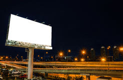 Blank Billboard At Night For Advertisement Stock Photo - Image ...